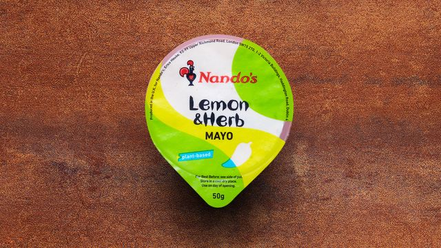 A Lemon & Herb Mayo dip pot