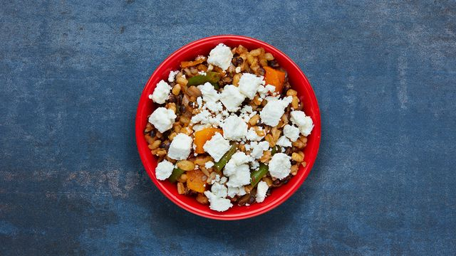A portion of Spiced Grains & Butternut Squash